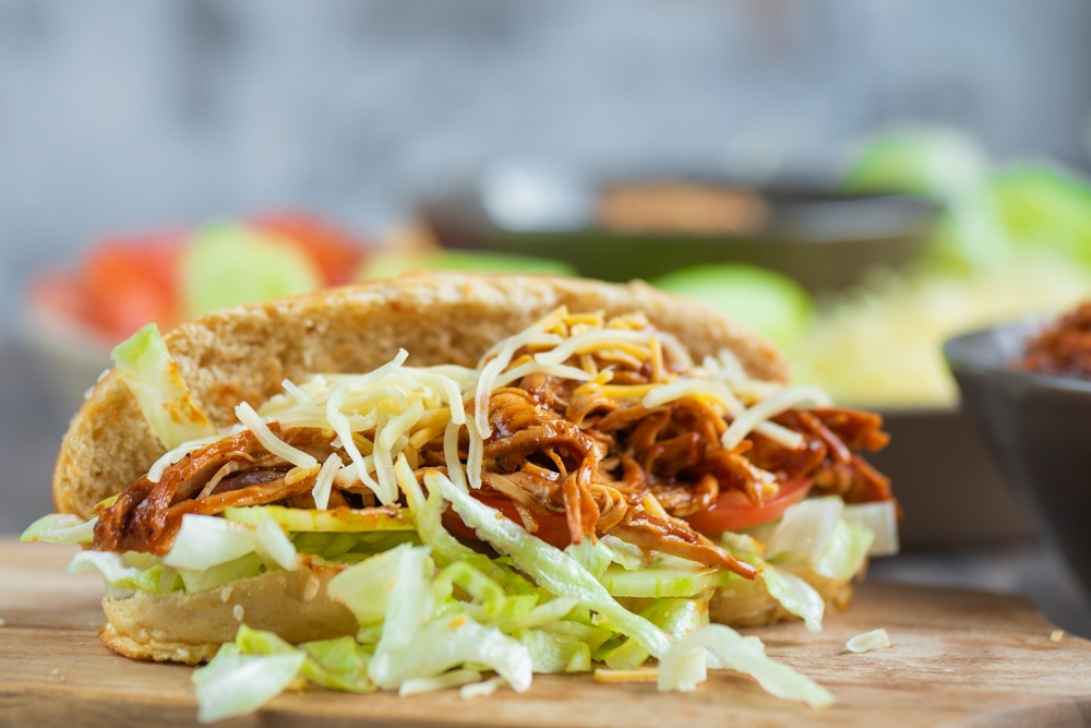 Pulled Chicken Hot Dogs